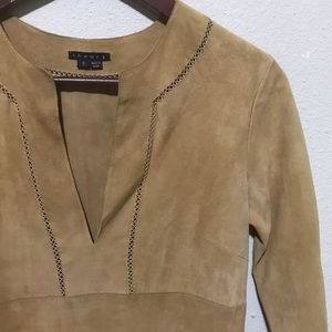 Theory Suede Leather Blouse Small